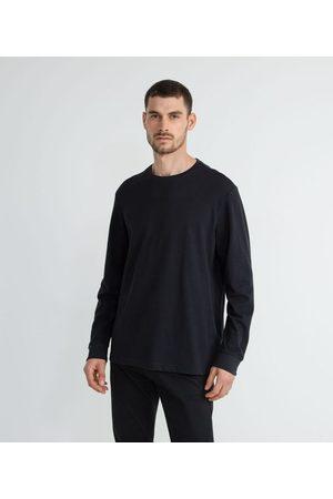 Marfinno Homem Camisolas de Manga Curta - Camiseta Manga Longa com Textura       GG