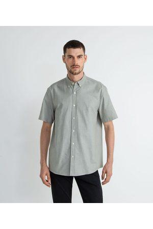 Preston Field Homem Camisa Manga Curta - Camisa Manga Curta Comfort em Oxford | | médio | G