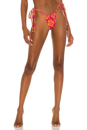 Frankies Bikinis Tia Terry Bikini Bottom in Pink. - size L (also in M, S, XL, XS)