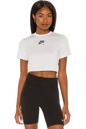 Nike NSW Air SS Crop Top in Light Grey. - size L (also in M, S, XS)