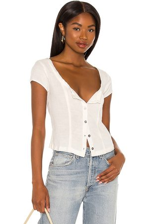 Free People X REVOLVE Time With You Corset Top in Ivory. - size L (also in M, S, XS)
