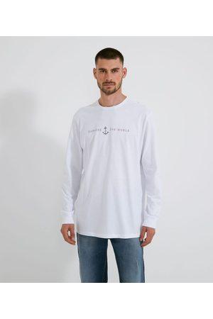 Marfinno Homem Camisolas de Manga Curta - Camiseta Manga Longa Estampada em Lettering       P