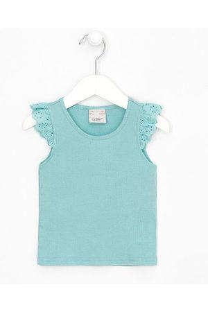 Póim (1 a 5 anos) Blusa Infantil Regata com Babadinho em Broderi - Tam 1 a 5 anos     Pastel turquoise   03