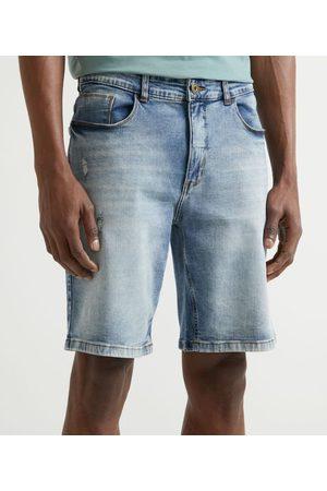 Marfinno Bermuda Jeans sem Estampa | | | 38