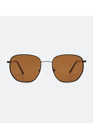 Cubus Homem Óculos de Sol - Óculos de Sol Masculino Quadrado em Metal       U