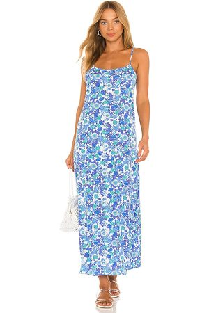 Frankies Bikinis Mulher Vestidos - Isabel Crepe Dress in Blue. - size L (also in M, S, XL, XS)