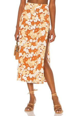 Amuse Society Mulher Saia Longa - Alexander Woven Maxi Skirt in Brown. - size L (also in M, S, XS)