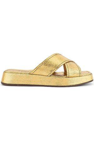 Schutz Tamina Sandal in Metallic Gold. - size 10 (also in 6, 6.5, 7, 7.5, 8, 8.5, 9, 9.5)