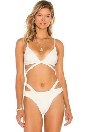 DEVON WINDSOR Juno Bikini Top in Cream. - size L (also in XS, S, M)