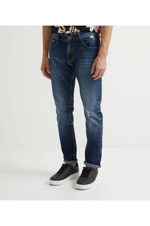 Blue Steel Calça Jeans Skinny com Puídos       38