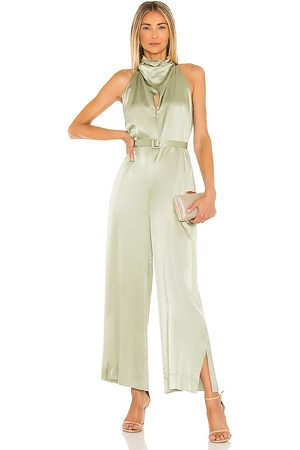 Nicholas Mulher Macacão - Ashley Jumpsuit in Sage. - size 10 (also in 2, 4, 6, 8)