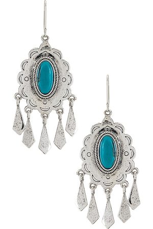 Ettika Mulher Brincos - Turquoise Statement Earrings in Metallic .