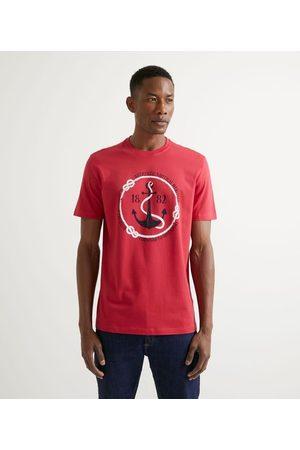 Marfinno Camiseta Manga Curta em Algodão Estampa Navy       P