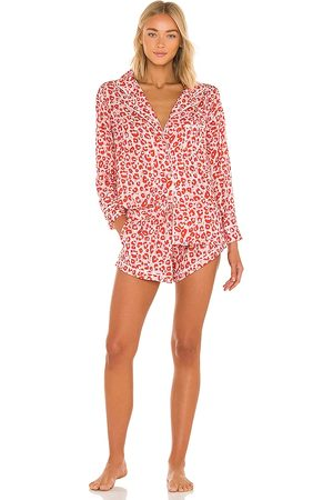 Plush X REVOLVE Long Sleeve Top and Short Pajama Set in . - size L (also in M, S, XS)