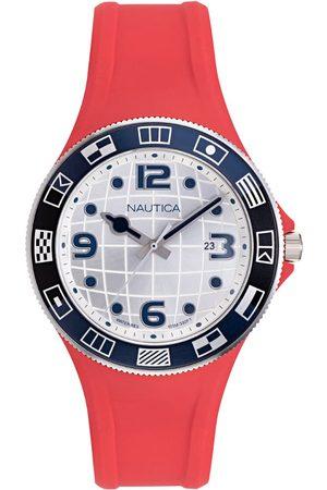 Vivara Relógio Nautica Masculino Borracha Vermelha NAPLBS902