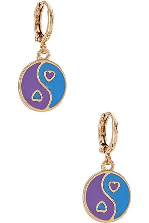 8 Other Reasons 8 Other Reason Hearted Yin Yang Charm Earring.