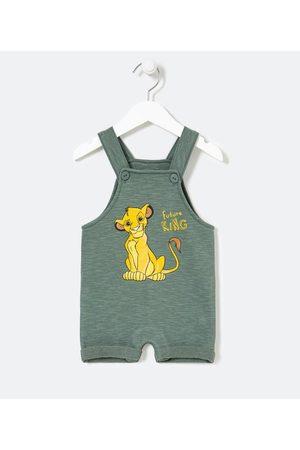 Rei Leão Jardineira Infantil em Moletom Estampa Simba - Tam 0 a 18 meses | | | 12-18M