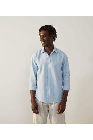 Marfinno Homem Camisa Manga Comprida - Camisa Manga Longa em Linho | | | M