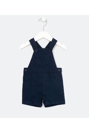 Teddy Boom (0 a 18 meses) Criança Jardineira - Jardineira Infantil em Sarja com Bolsos - Tam 0 a 18 meses | | | 9-12M