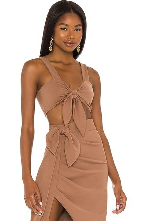 Katie May Temp Rising Top in Brown. - size L (also in M, S, XS)