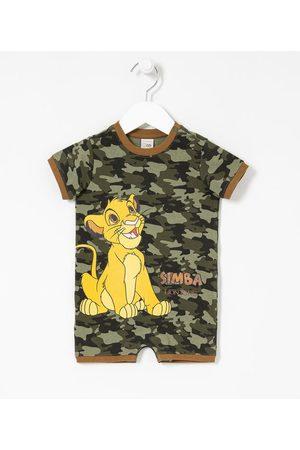 Rei Leão Criança Macacão - Macacão Infantil Camuflado Estampa Simba - Tam 0 a 18 meses | | | 12-18M