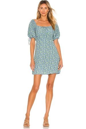 FAITHFULL THE BRAND Thea Mini Dress in Blue. - size L (also in M, S, XL, XS)