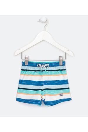 Teddy Boom (0 a 18 meses) Bermuda de Banho Infantil Estampa de Listras Coloridas e Cós Elástico - Tam 0 a 18 meses | | | 12-18M