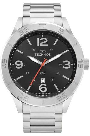 Technos Kit Relógio Masculino com Pulseira em Aço Prata e com Caixa em Aço Prata 2115MYVK1P | | claro | U