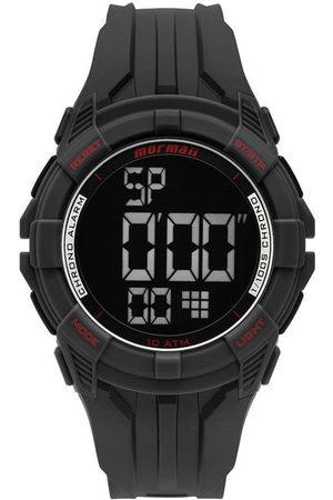 Mormaii Relógio Masculino com Pulseira em Borracha Preta e com Caixa em Borracha Preta MO18771AC8R | | | U
