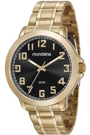 Mondaine Homem Pulseiras - Kit Relógio Masculino com Pulseira em Aço e com Caixa em Metal 99268GPMVDE1K | | | U