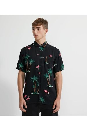 Ripping Camisa Manga Curta em Viscose Estampa Flamingos | | | G