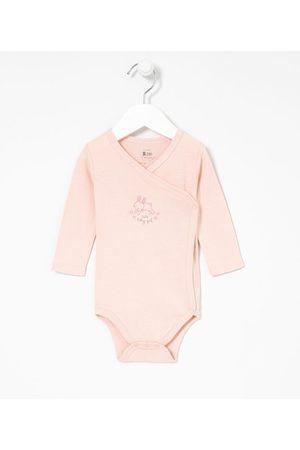 Teddy Boom (0 a 18 meses) Criança Body - Body Kimono Infantil Estampa de Coelhinho - Tam RN a 12 meses       3-6M