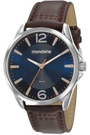 Mondaine Homem Pulseiras - Kit Relógio Masculino com Pulseira em Couro Sintético e com Caixa em Metal 53794G0MVNH2K | | | U