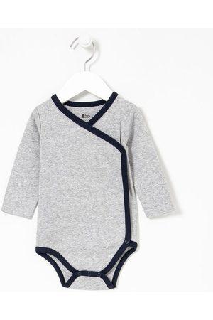 Teddy Boom (0 a 18 meses) Body Infantil Kimono com Viés Contrastante - Tam RN a 18 meses     médio   RN