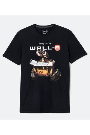 Disney Homem Camisolas de Manga Curta - Camiseta Manga Curta Estampa Wall-E       G