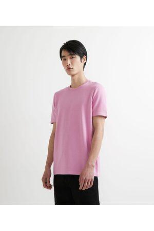 Request Homem Camisolas de Manga Curta - Camiseta Manga Curta em Algodão Textura Maquineta       M
