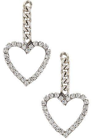 Dannijo Lovi Earrings in Metallic Silver.