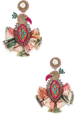 PATBO X Ranjana Khan Bird with Pearls Earrings in .