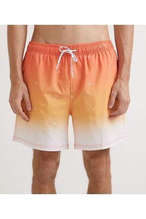 Ripping Homem Short de Banho & Sunga - Bermuda de Banho Gradiente Estampa Mini Ícones Praia | | Multicores | G