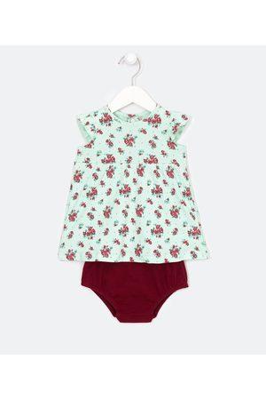 Teddy Boom (0 a 18 meses) Vestido Infantil Estampa Floral com Calcinha - Tam 0 a 18 meses       0-3M