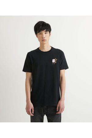 Request Homem Camisolas de Manga Curta - Camiseta Manga Curta Bordado No Ideas       GG