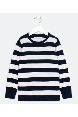 Fuzarka (5 a 14 anos) Criança Casacos - Blusão Infantil em Tricô Listrado - Tam 5 a 14 anos       11-12