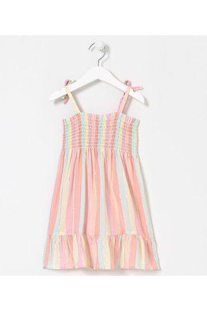 Póim (1 a 5 anos) Criança Vestido Estampado - Vestido Infantil em Viscose Listrado com Lastex - Tam 1 a 5 anos | | Multicores | 05