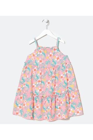 Fuzarka (5 a 14 anos) Vestido Infantil Marias Estampa Floral - Tam 5 a 14 anos       9-10