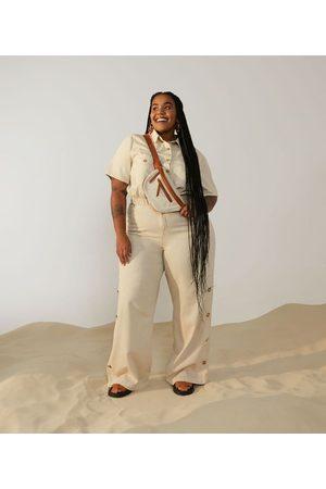 Ashua Curve e Plus Size Camisa Cropped com Bolsos Curve & Plus Size | | | GG