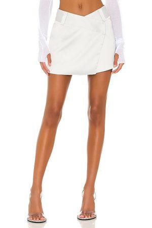 superdown Alana Mini Skirt in Light Grey. - size L (also in M, S, XL, XS)