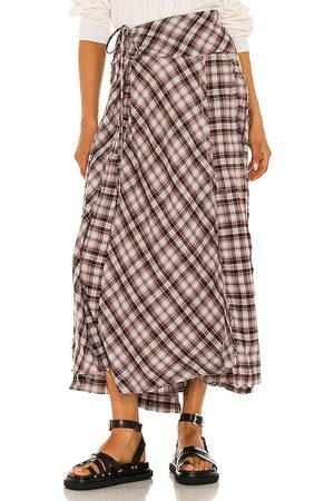 Free People Deep In Thought Maxi Skirt in Red. - size 0 (also in 10, 2, 4, 6, 8)