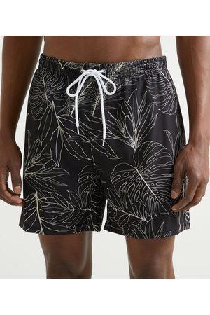 Ripping Homem Short de Banho & Sunga - Bermuda de Banho com Estampa Folhagens | | | M