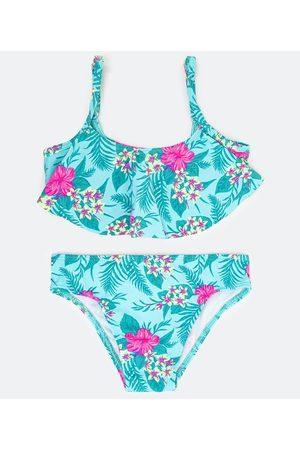 Accessories Criança Bikini - Biquíni Infantil Estampa Floral com Babado - Tam 5 a 14 anos       5-6