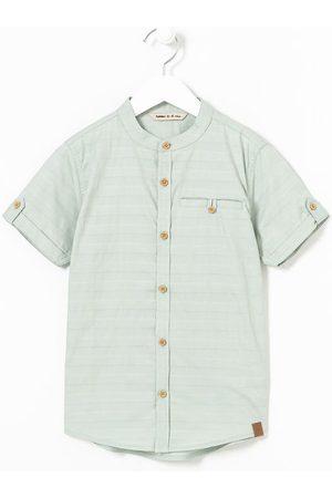 Fuzarka (5 a 14 anos) Camisa Infantil com Gola Padre - Tam 5 a 14 anos       5-6